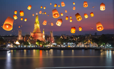 Lichterfest in Thailand
