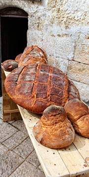 frisches Brot in Apulien