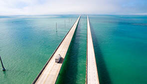 seven mile bridge zu den Florida Keys